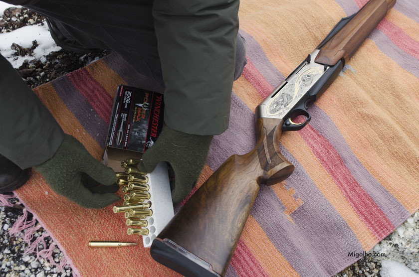 Carabina e balas.